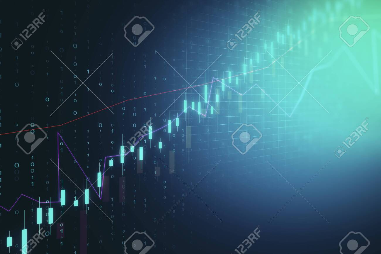 Creative Glowing Candlestick Forex Background Trade And Invest 1300x866