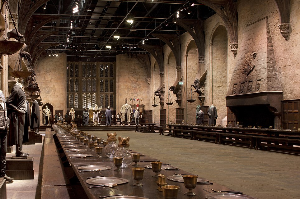 Great Hall Inside Hogwarts Castle at the studios near Watford north 964x641