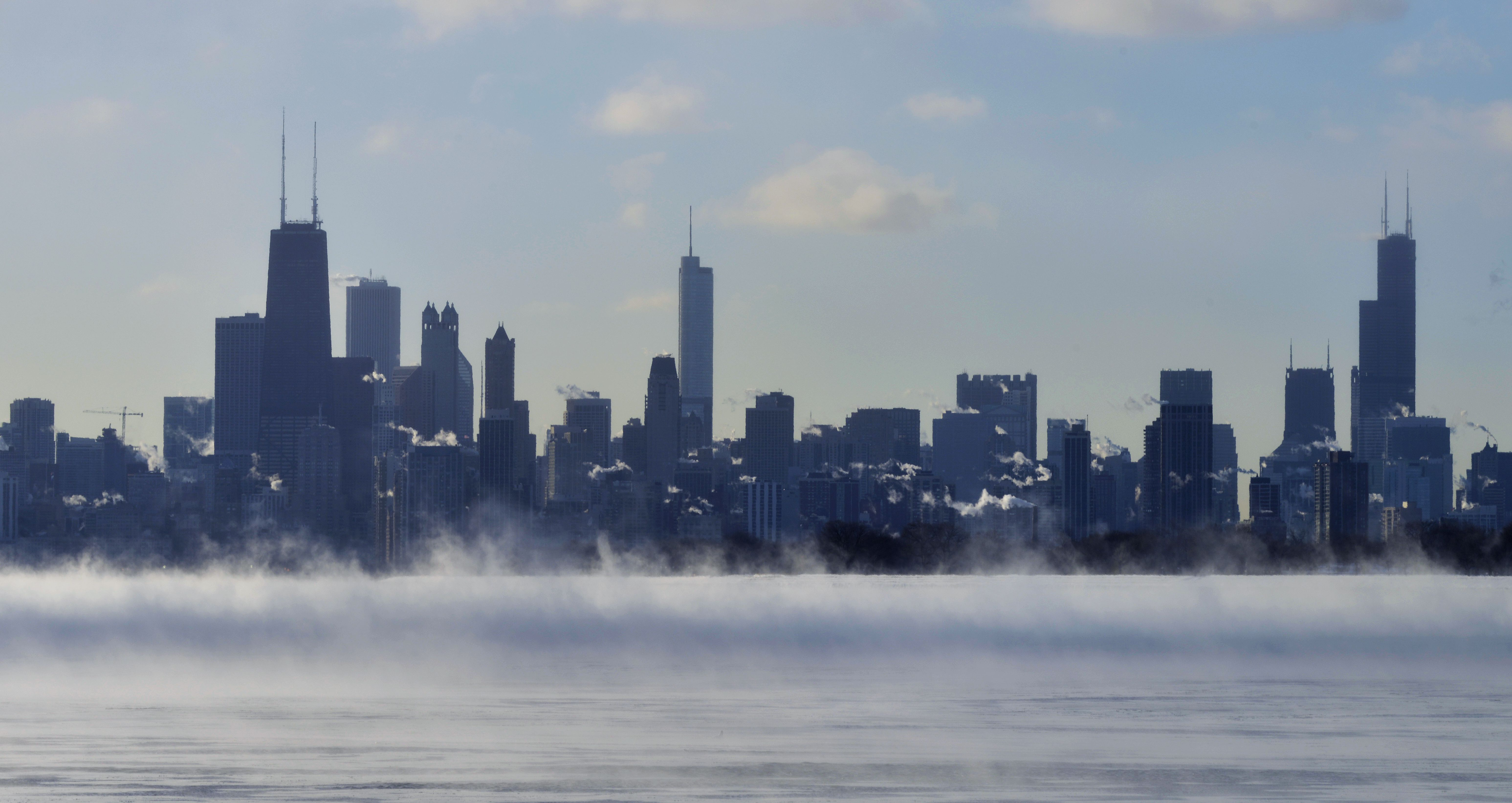 Chicago Skyline Winter HD Picture AmazingPictcom   Wallpapers 6186x3288