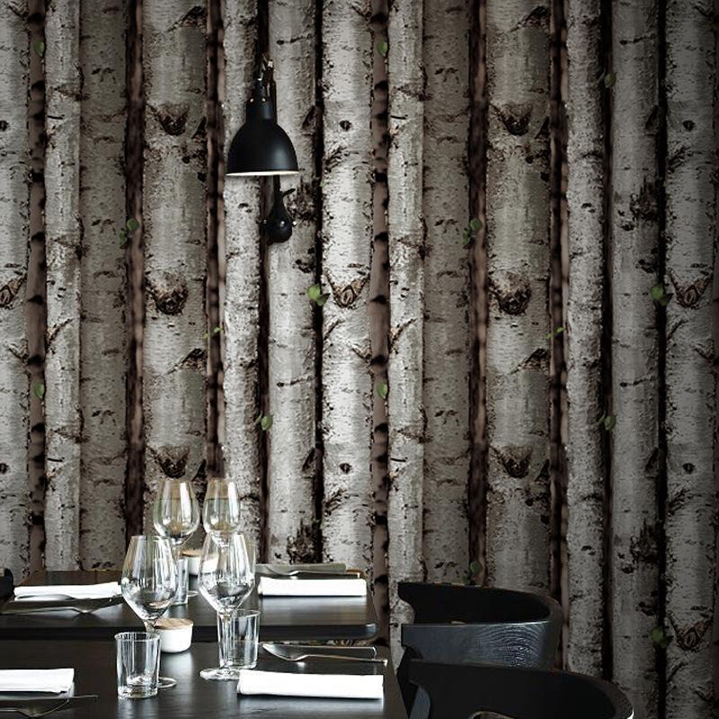 Looks Like Birch Tree Wood Wallpaper Roll For Walls Vinyl Wall Paper 800x800