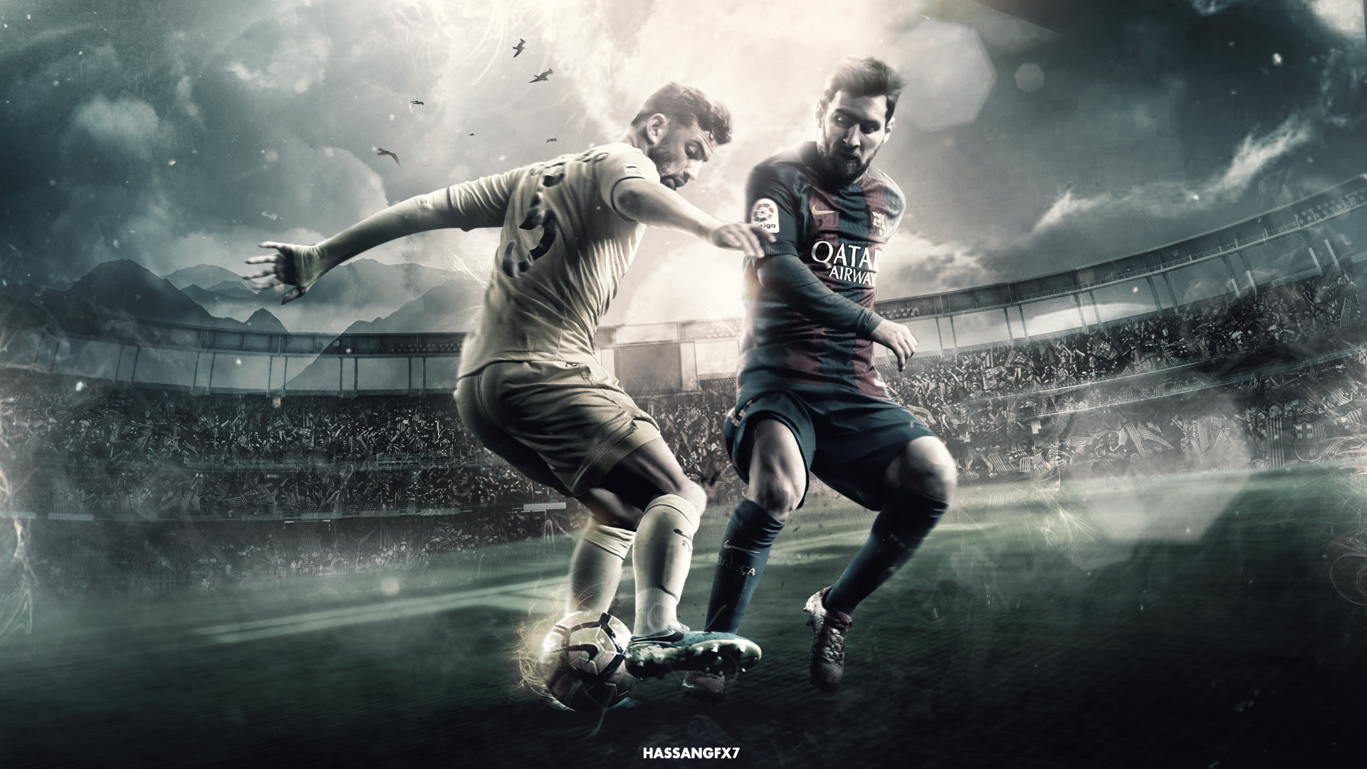Lionel Messi 201617 Wallpaper by HassanGFX7 1920x1080