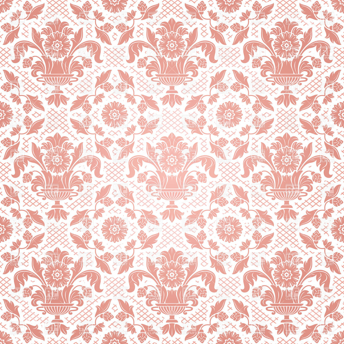 Seamless pink classic victorian wallpaper download royalty free 1200x1200