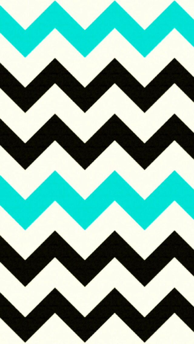 Turquoise And Black Backgrounds Black and turquoise chevron 640x1136
