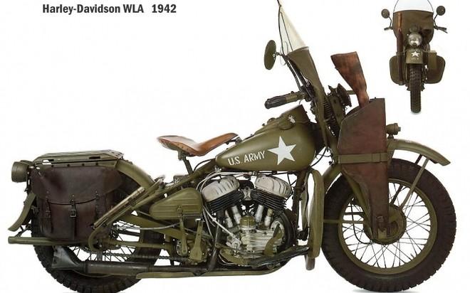 Harley Davidson WLA 1942 US Army Motorcycle Oldtimer 660x412