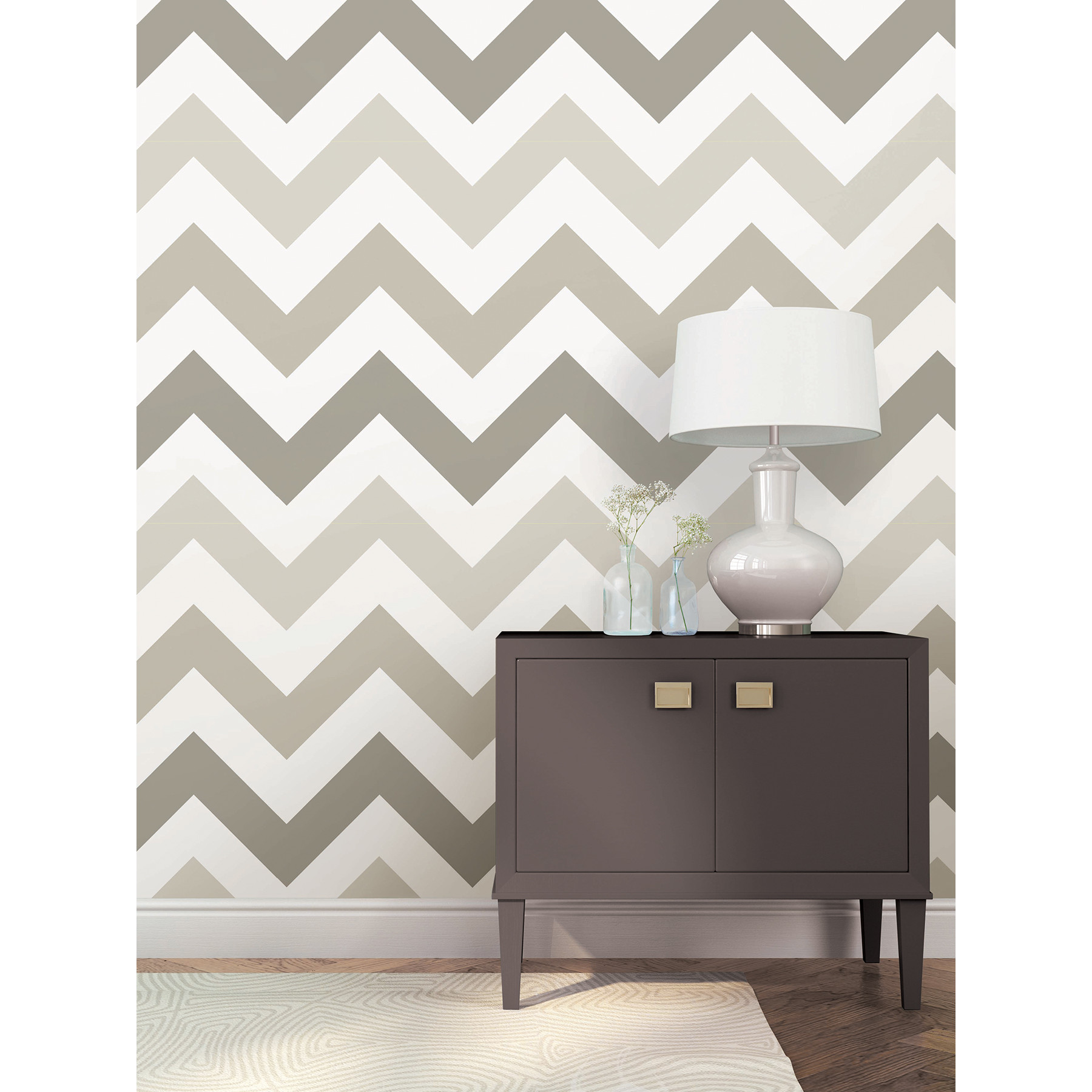WallPops Taupe Zig Zag Peel And Stick Wallpaper Reviews Wayfair 1800x1800