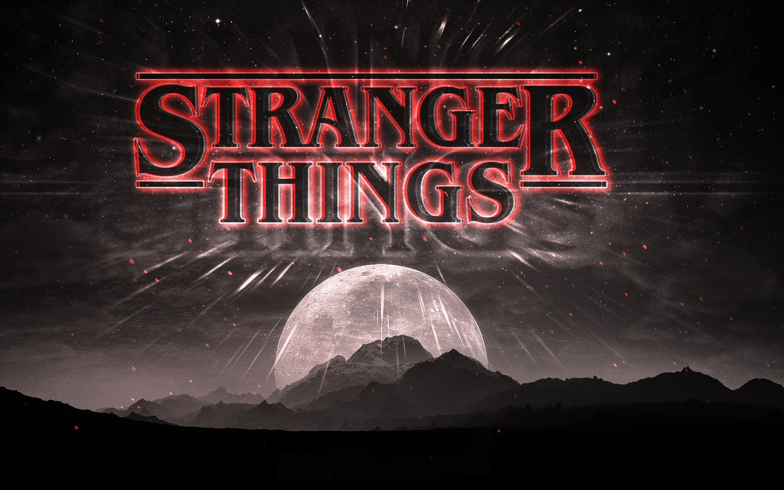 Stranger Things Dark Logo Full HD Wallpaper 2560x1600