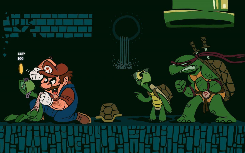 Wario Vs Koopa Troopa Ninja Turtle Wallpaper 1440×900 ...