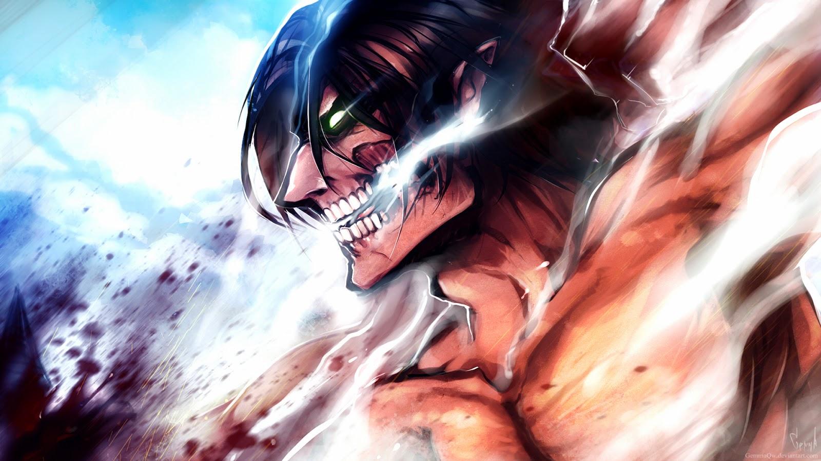 eren rogue titan anime attack on titan shingeki no kyojin c 1600x900