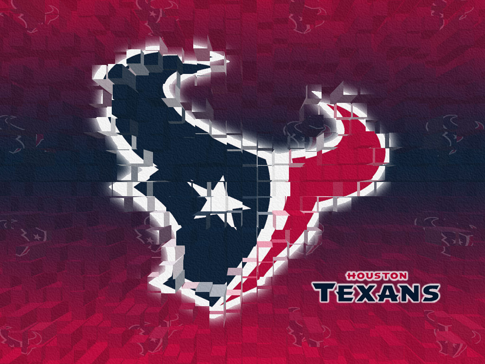 3D logo NFL Houston Texans wallpaper 1600x1200