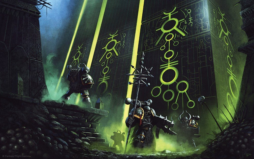 Miniatures Ooops Necrons and Chaos Space Marine Wallpaper 1024x640