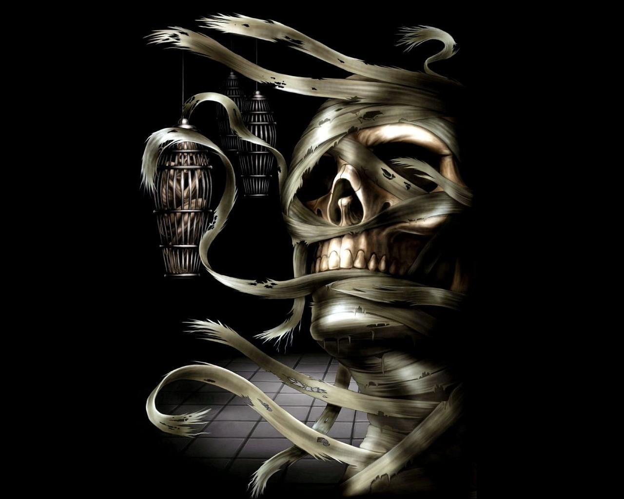 Skull 3d Wallpaper: Evil Skulls Wallpaper