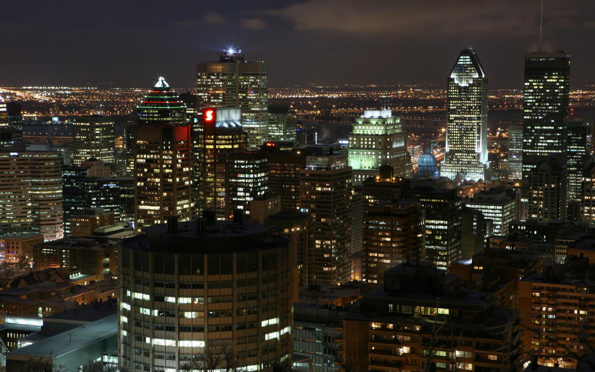 Centre ville de Montreal Computer Wallpapers Desktop Backgrounds 1920x1200