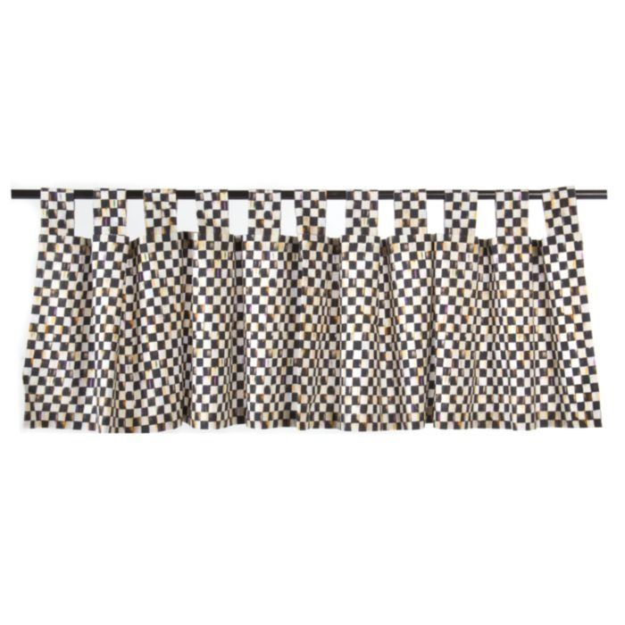 MACKENZIE CHILDS Courtly Check Curtain Valance with Tab Top 72 x 12 700x700