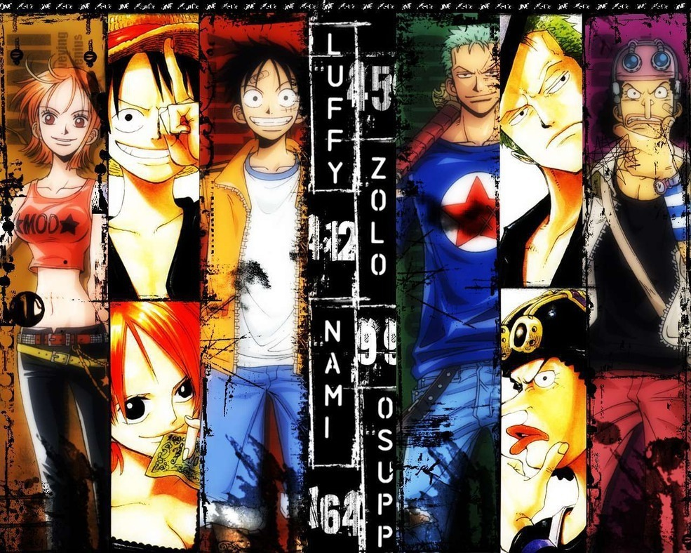One Piece images Straw Hat Pirates wallpaper photos 18593090 985x788