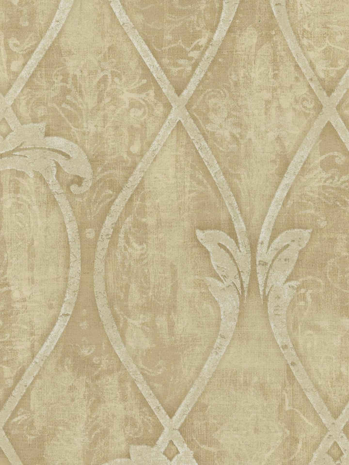 Beige TG51207 Faux Ironworks on Damask Wallpaper   Textures 720x960