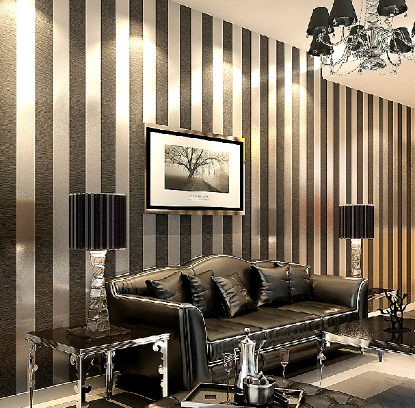 Made in China non woven wallpaper living room bedroom study plain 607x597