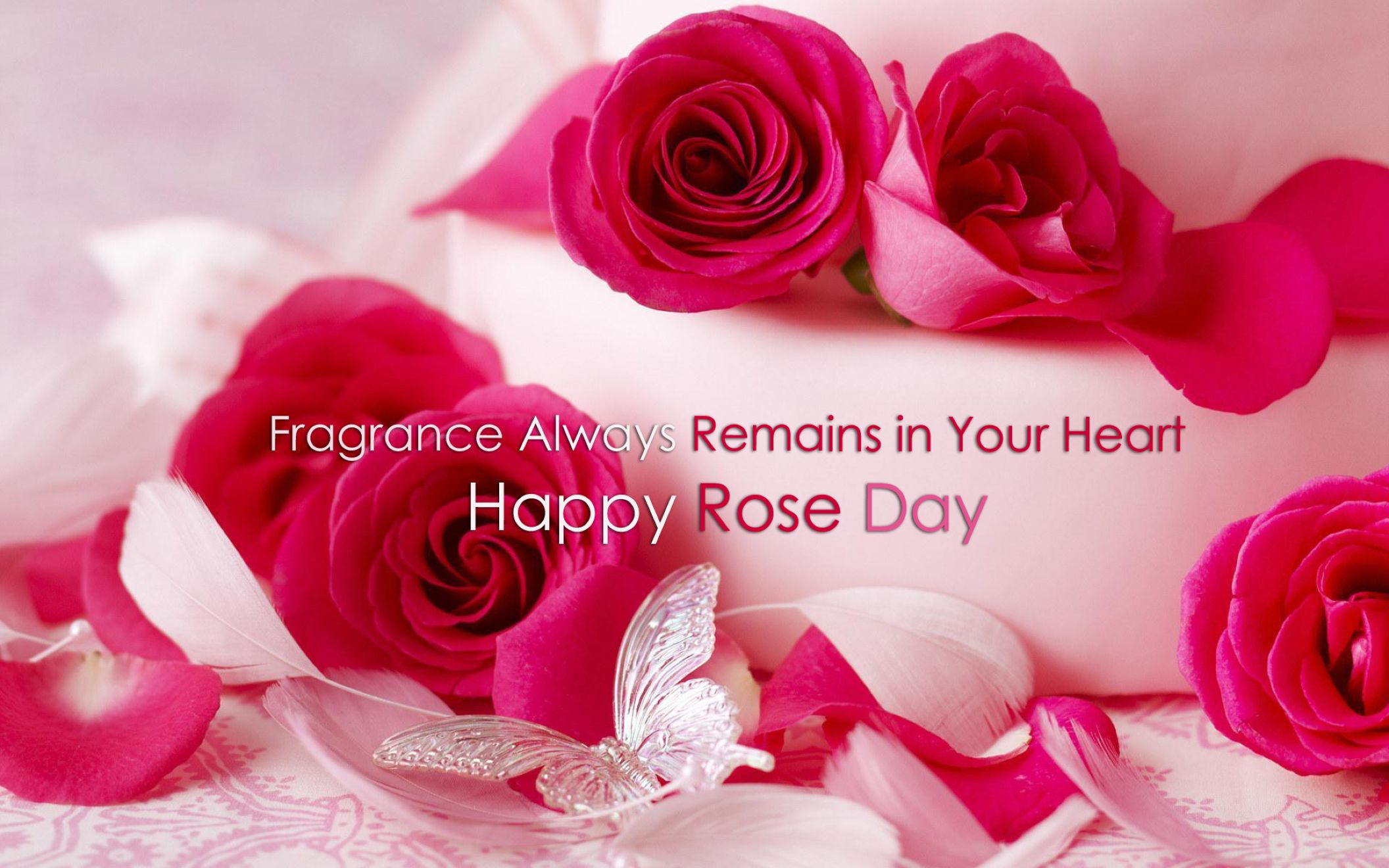 Happy Rose Day 2016 Red Rose With Love Quotes Wallpaper Desktop 2112x1320