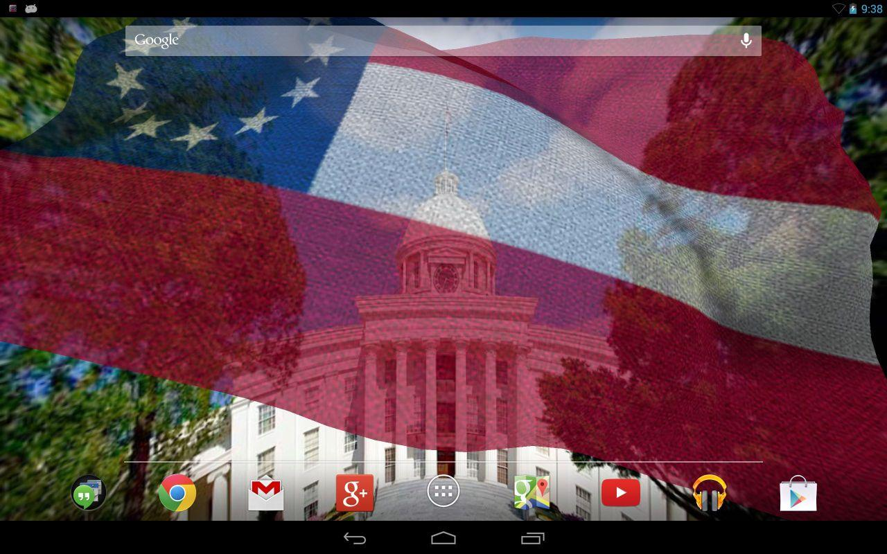 Rebel Flag Live Wallpaper   Android 1280x800