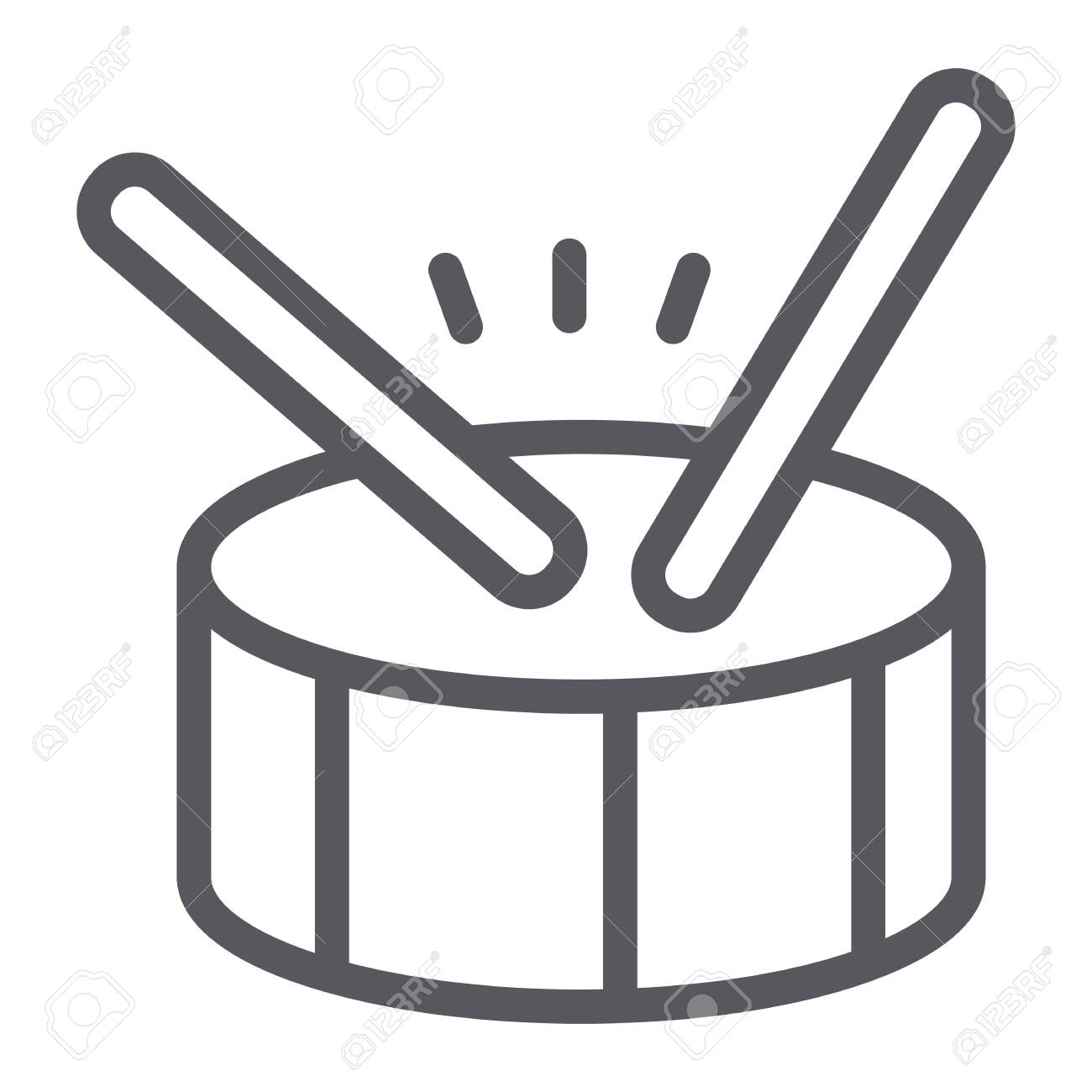 Drum Line Icon Music And Beat Percussion Instrument Sign Vector 1300x1300
