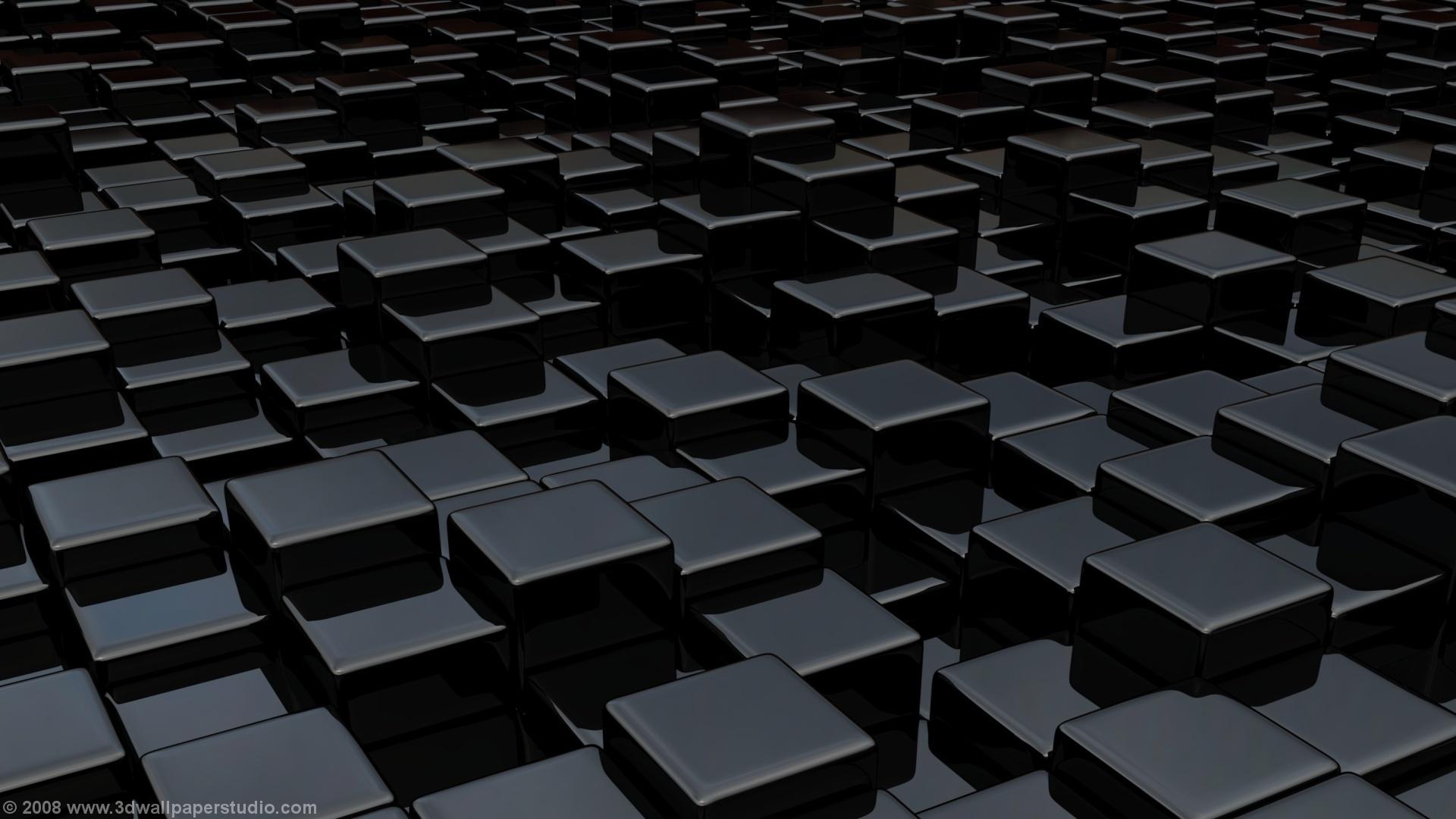 3D Wallpaper Black cube world 1920 x 1080 1920x1080