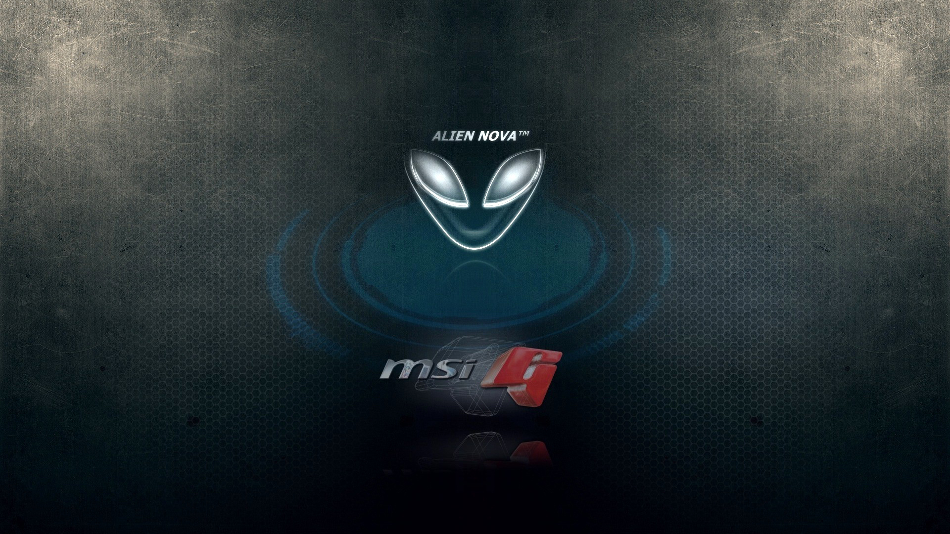 alienware and MSi g logo hd 1920x1080 1080p wallpaper compatible for 1920x1080