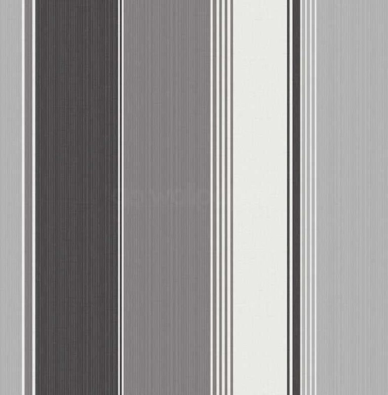 Black White and Silver Striped Wallpaper by Debona 786x800