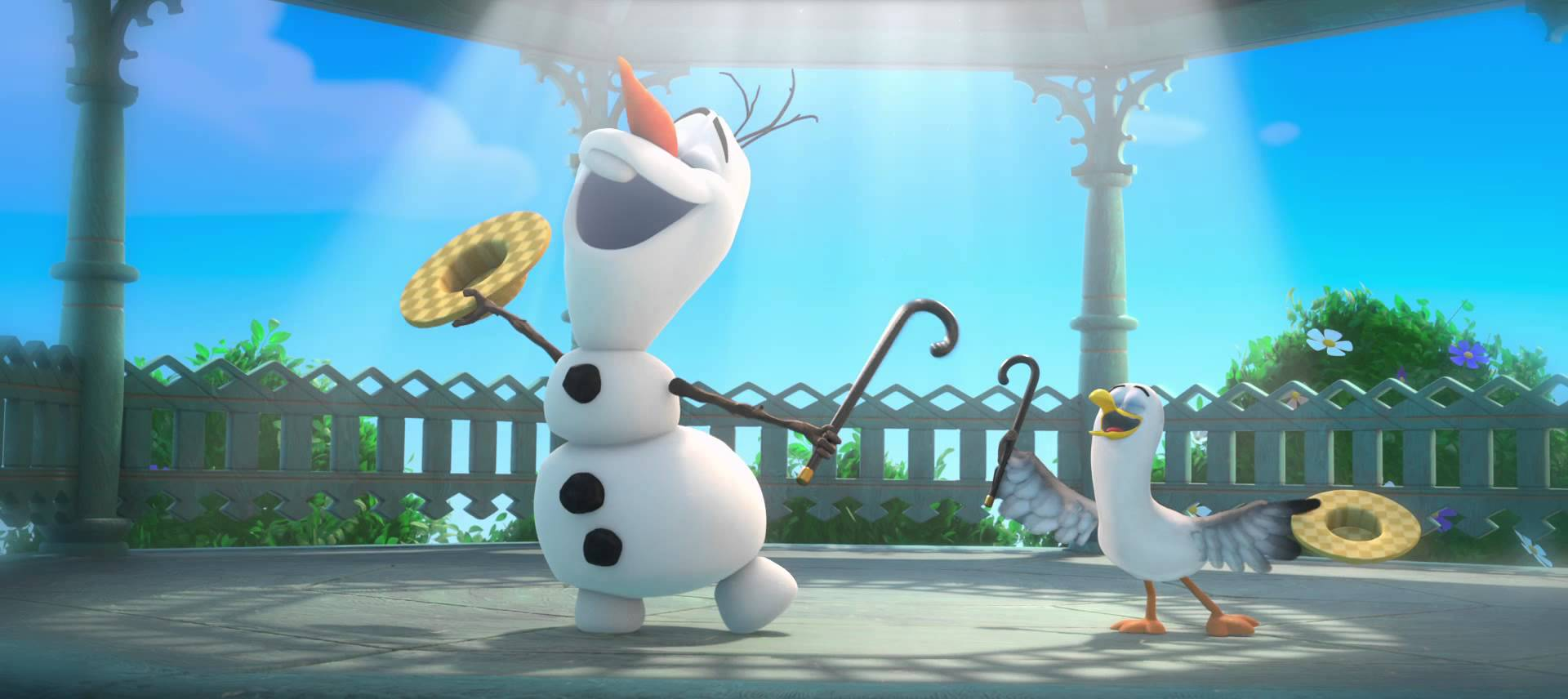Olaf Frozen Wallpaper In Summer 1920x856