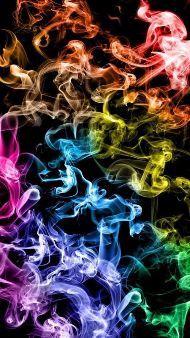 Cool Abstract Colorful Smoke iPhone 5 wallpapers HD 640x1136