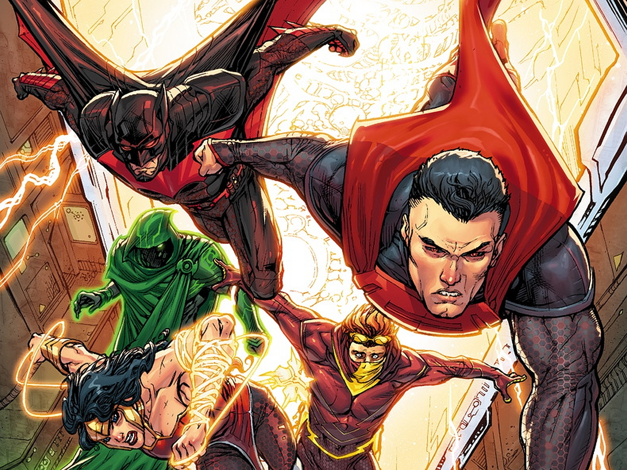 Justice league iphone wallpaper wallpapersafari - New 52 wallpaper ...