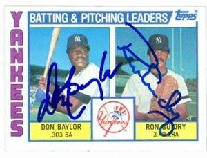 Don Baylor Ron Guidry autographed baseball card New 300x229
