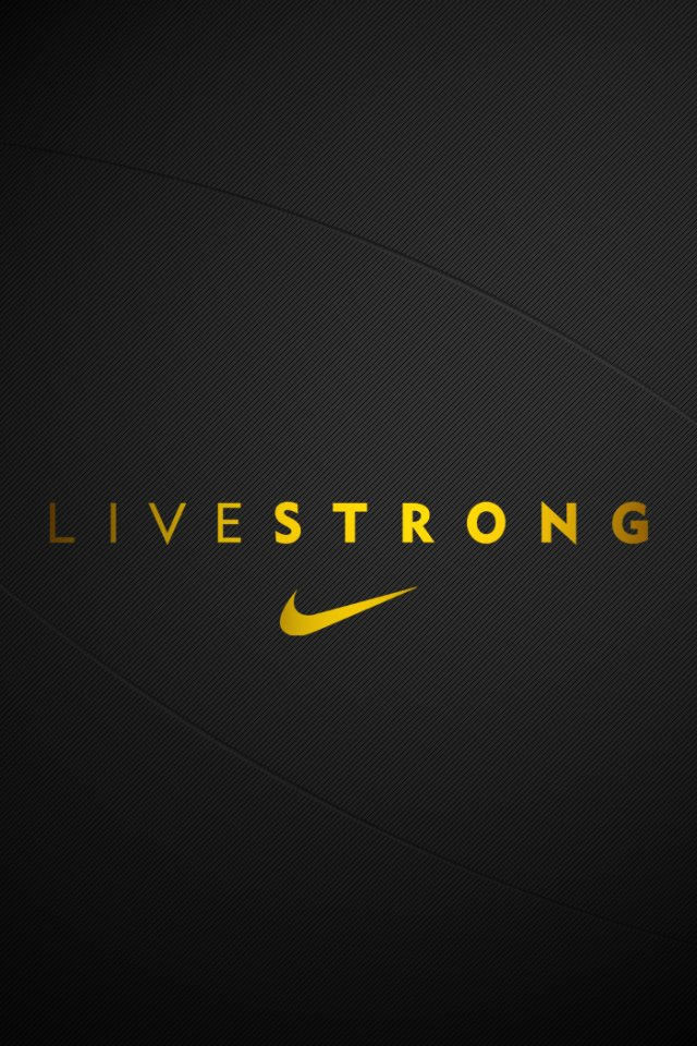 iPhone Wallpapers Livestrong Nike Tweet This Bookmark this on 640x960