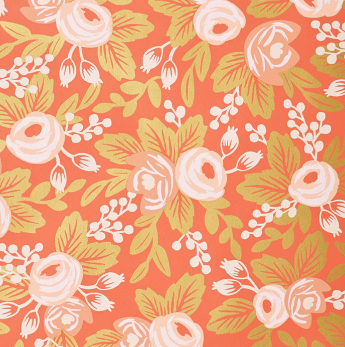 About Rosa Persimmon wallpaper by Rifle Paper Co USA contemporary 688x692