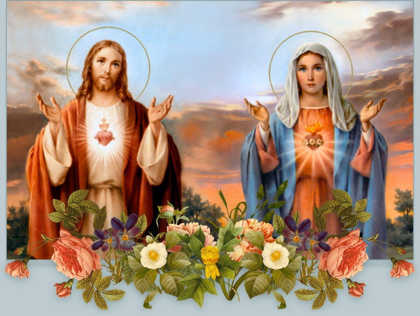 Jesus Christ Mother Mary Wallpapers