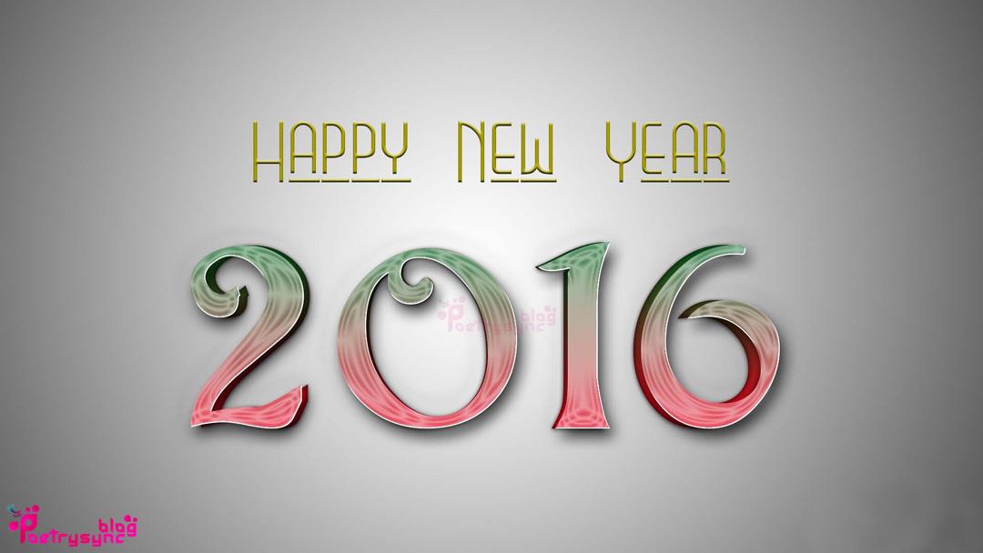 Happy New Year 2016 Desktop Wallpaper Poetry 1080x608