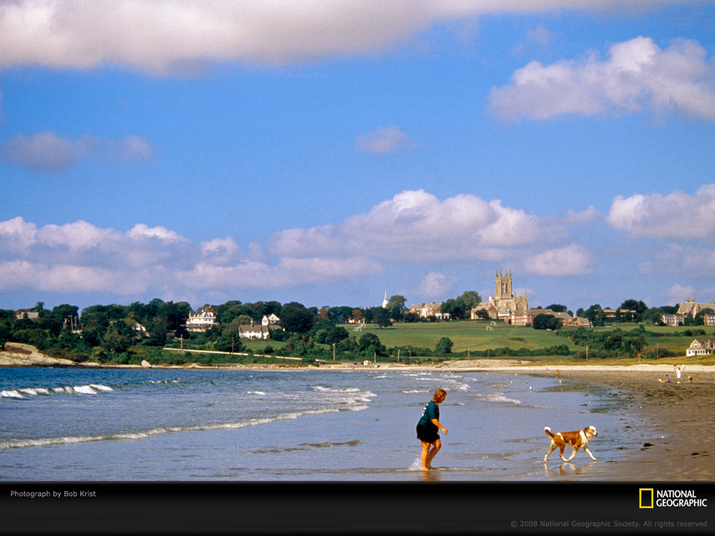 Newport Rhode Island Woman and Dog Photo of the Day Picture 1024x768
