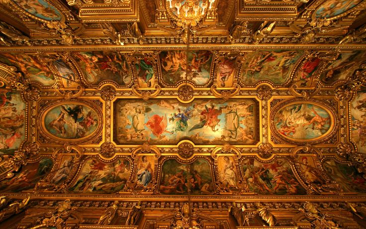 renaissance painted ceilings wallpaper of 736x460