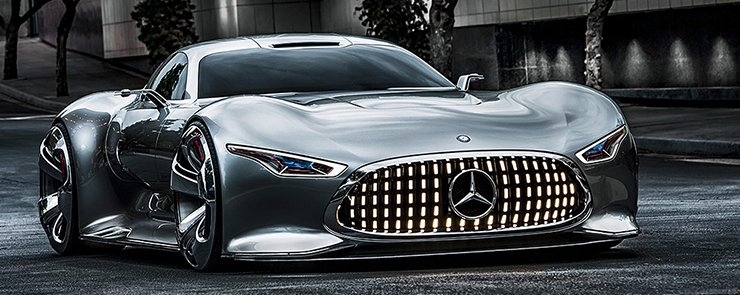 Between reality and future Mercedes Benz AMG Vision Gran 740x295