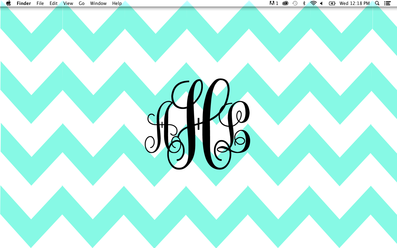 chevron initials wallpaper with o - photo #13