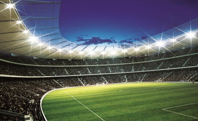 Football Stadium Wall Mural 650x398