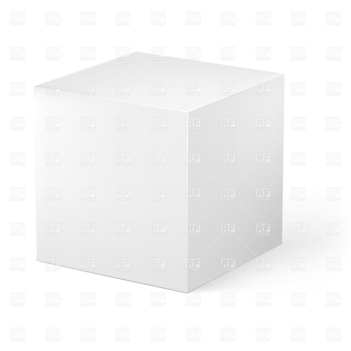 Blank white cube on white background 16313 Objects download Royalty 1200x1200