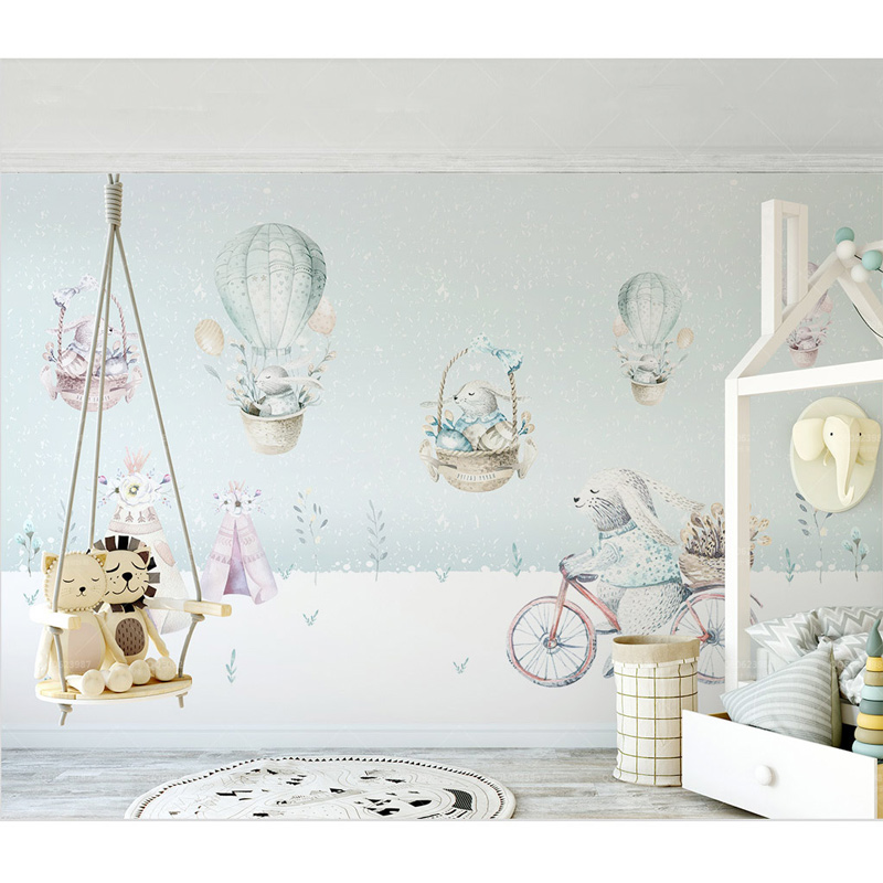 Kids Wall Paper Cartoon Bunny Photo Wallpaper Mural Childrens 800x800