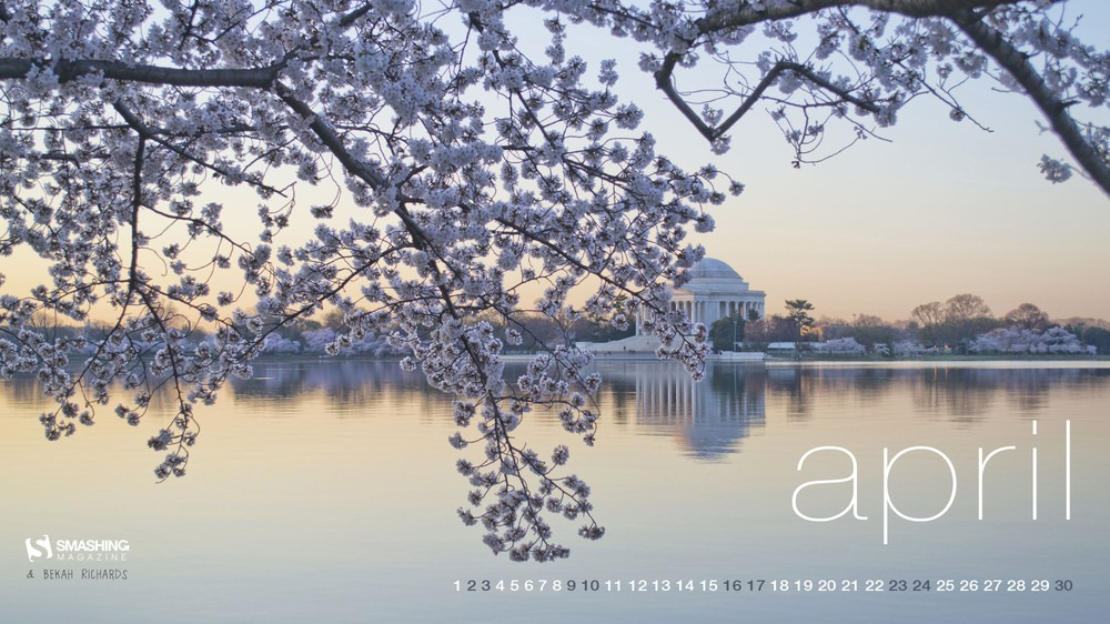 Magazine Desktop Wallpaper Calendar April 2016 Windows 7810 Theme 1000x562