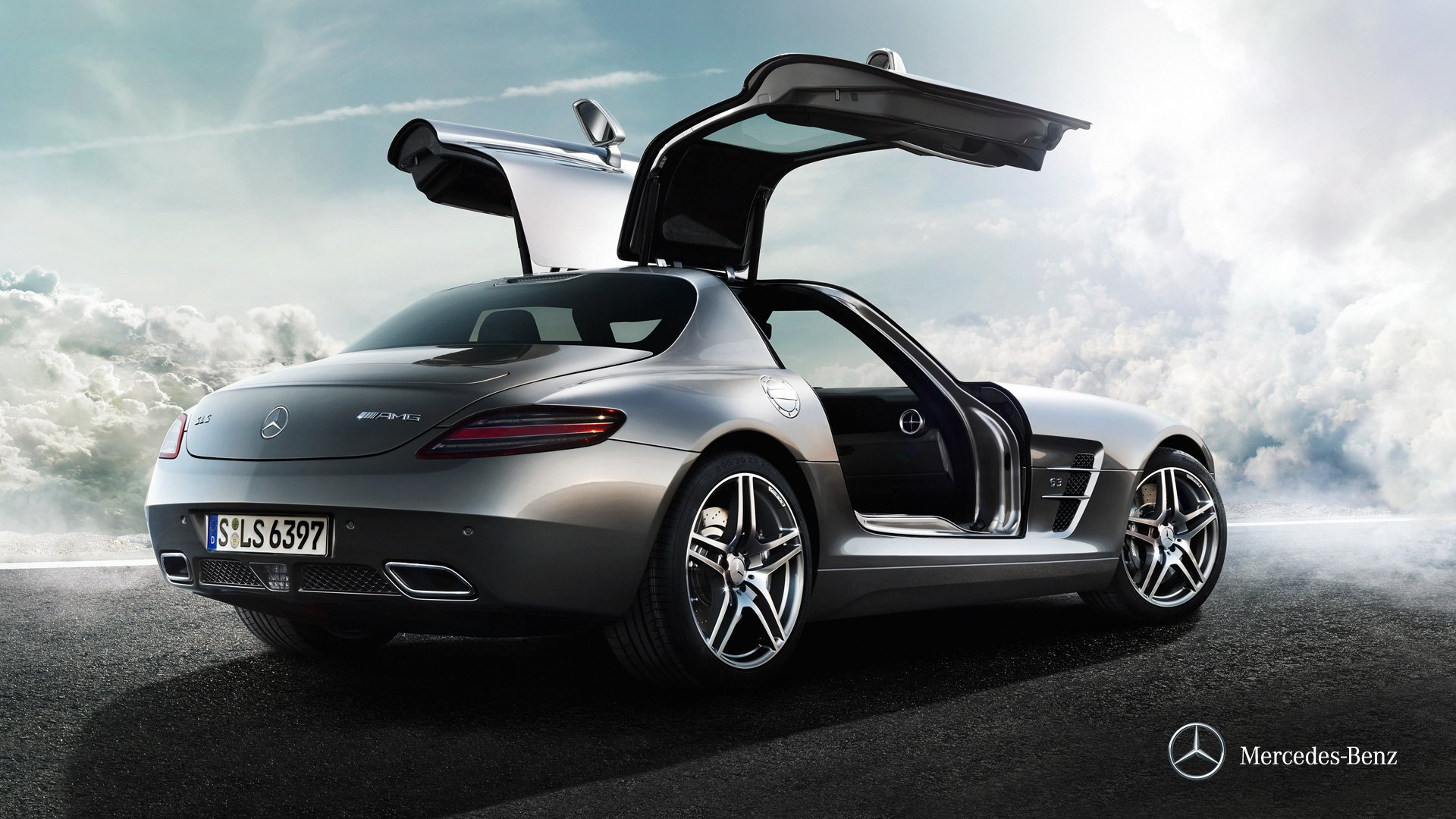 mercedes sls amg wallpaper wallpapersafari. Black Bedroom Furniture Sets. Home Design Ideas