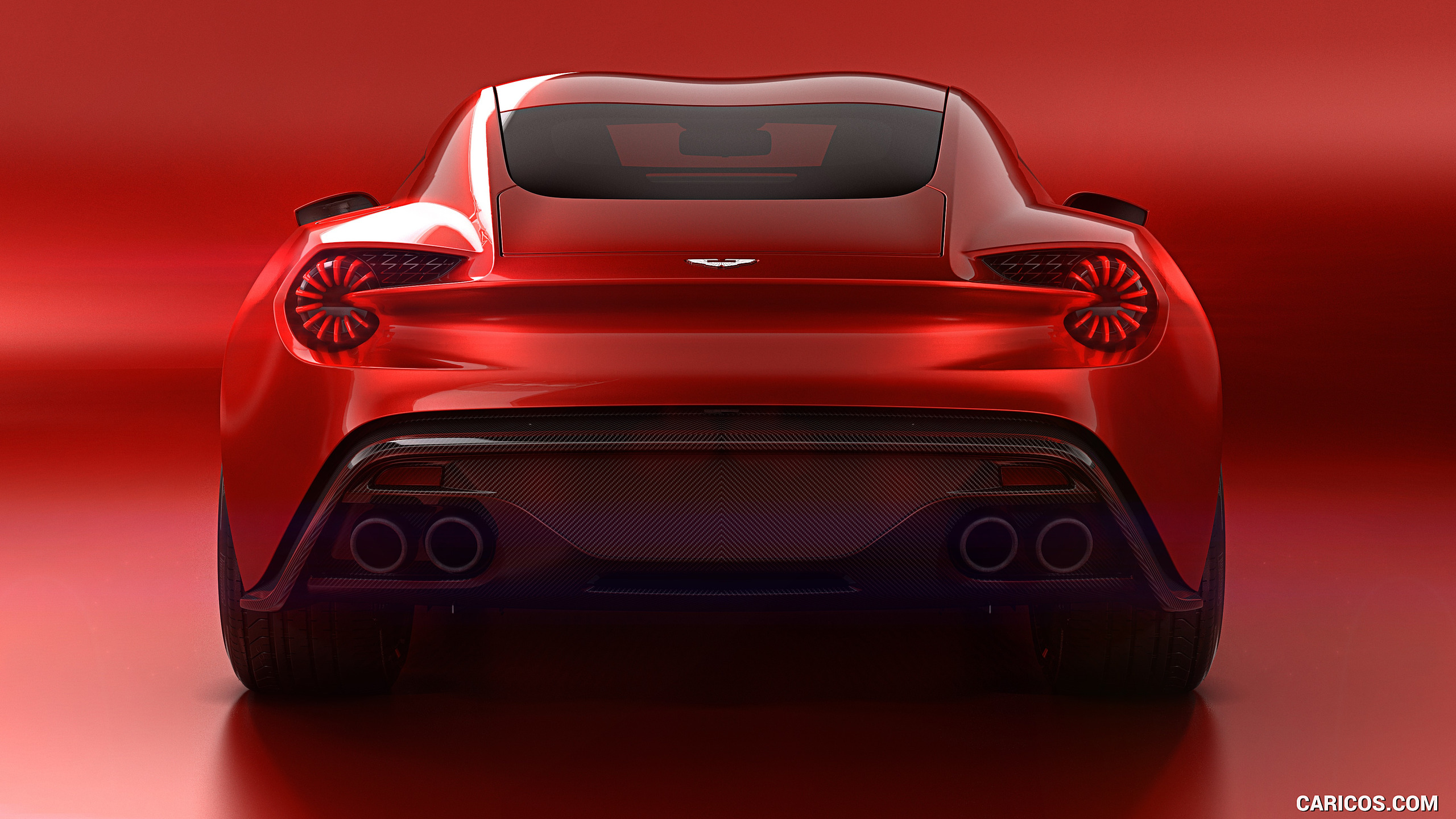 2016 Aston Martin Vanquish Zagato Concept   Rear HD Wallpaper 8 2560x1440