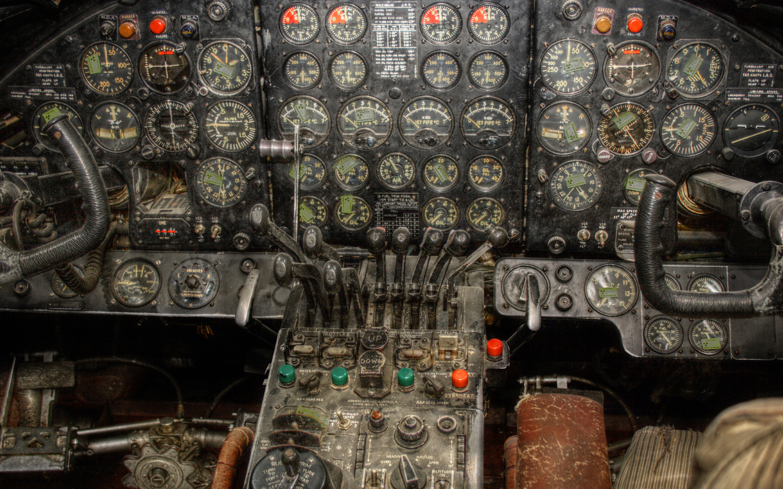 Vintage Airplane Cockpit Wallpaper Vergil Kanne Photography 1440x900