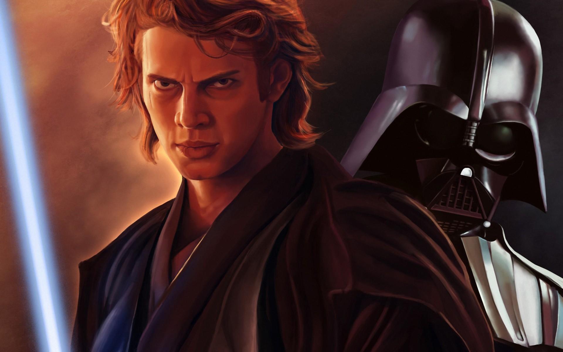 Anakin Skywalker Dart Vader lightsaber sci fi wallpaper background 1920x1200