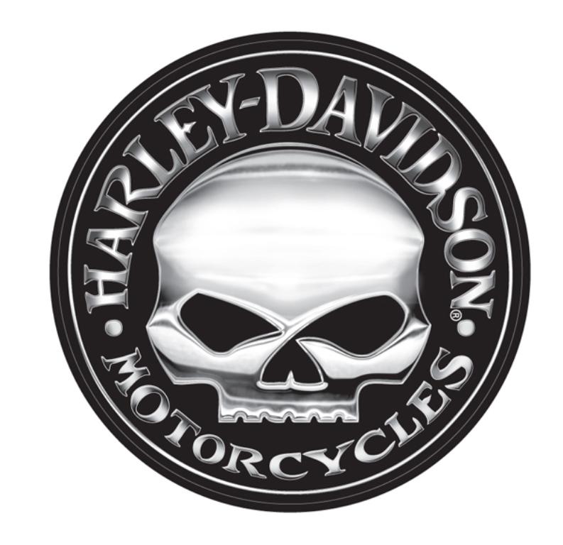 Harley Davidson Extra Large Skull Vinyl Trailer Decal CG4331 793x768