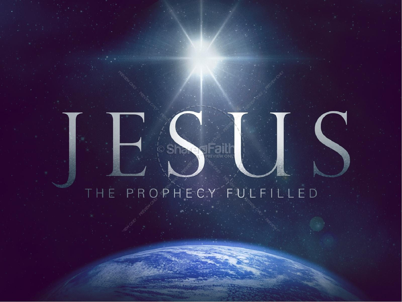 The Prophecy Fulfilled Christian PowerPoint Christmas PowerPoints 1600x1200