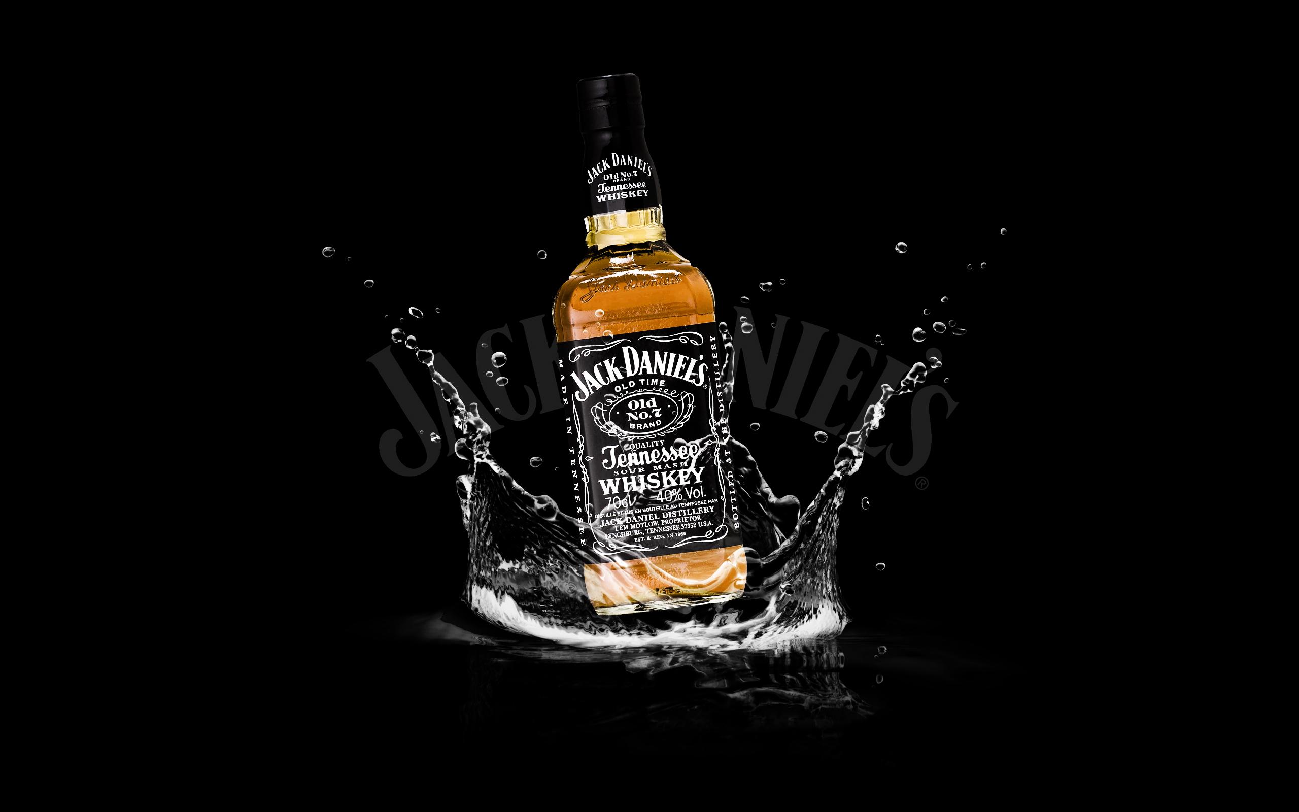 Jack Daniels on Water Widescreen Wallpaper HD Desktop Background PC 2560x1600