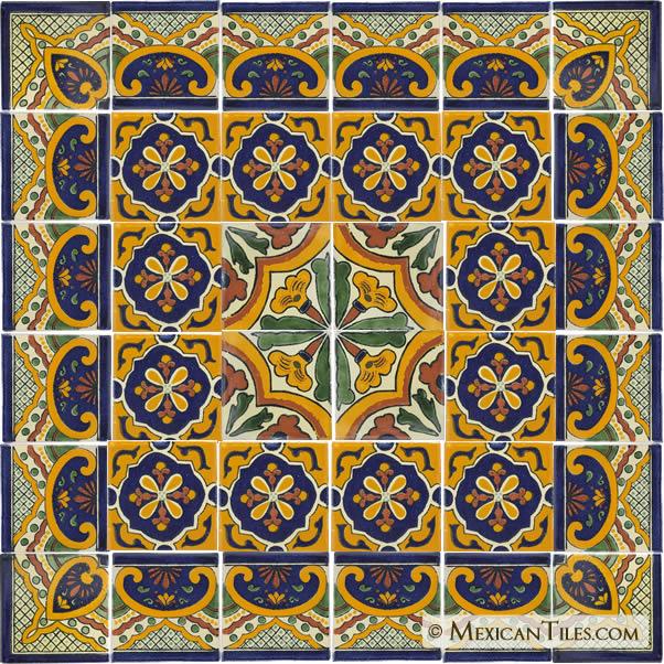Mexican Tiles   Mexican Ceramic Tile   Mexican Talavera 602x602